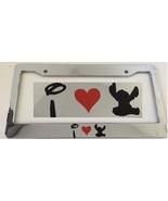 I Love Lilo and Stitch - Very Cute   - Chrome License Plate Frame -  Disney - $15.99