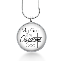 Christian Jewelry - My God is a Awesome God - necklace-faith, church, su... - $18.32