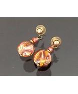 Vintage Jewelry Glass Beads Earrings  - $8.50