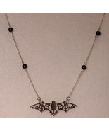 """Silver Plated Bat Suspended from 18"""" Chain Neck... - $14.85"""
