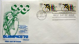 August 17, 1972 First Day of Issue, Fleetwood Cover, Olympic Summer Game... - $2.27