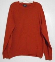 Lands' End Drifter  Rust Round  Neck Pullover Long Sleeve Sweater Size L... - $13.99