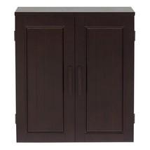 Dark Birch Wood Finish Bathroom Wall Cabinet - $135.00