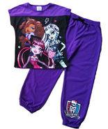 NEW Monster High Skull Pajamas Pyjamas PJS 2PC SET - £13.49 GBP