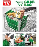 As Seen on TV Grocery Bags Reuseable Green Bags Pack of 2 for $14.99 - €12,26 EUR