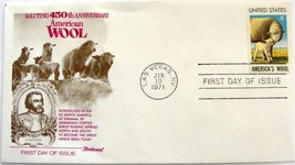 January 19, 1971 First Day of Issue, Fleetwood Cover, America's Wool #1 - $4.92