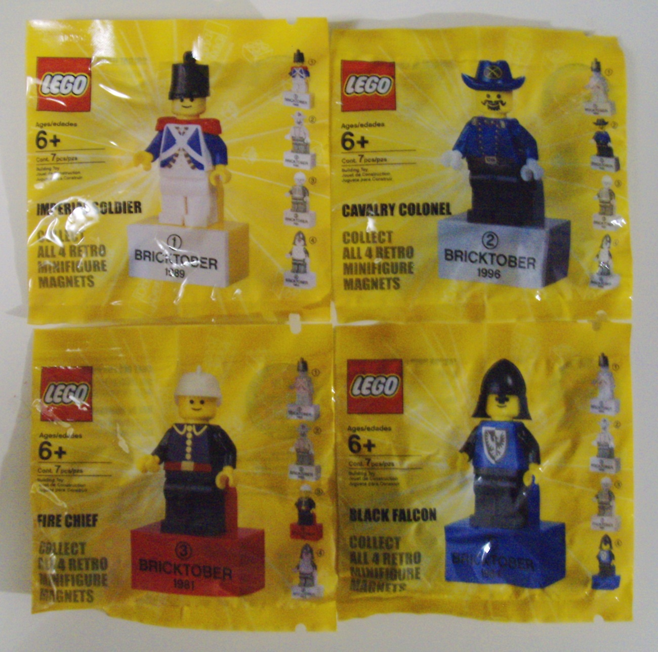 LEGO Bricktober Complete Set of 4 Minifigures 2010 Toys R Us Exclusive - New