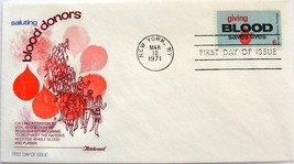 March 12, 1971 First Day of Issue Fleetwood Cover, Blood Donor Program #4 - $3.99