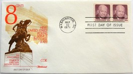 May 10, 1971 First Day of Issue, Fleetwood Cover, 8c Eisenhower #15 - $2.74