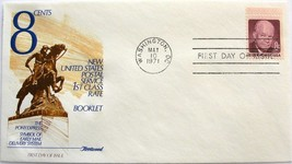 May 10, 1971 First Day of Issue, Fleetwood Cover, 8c Eisenhower #16 - $2.74