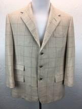 S11 Ralph Lauren Purple Label 42R 100% Camel Hair Tan Check Sport Coat Jacket - $75.73