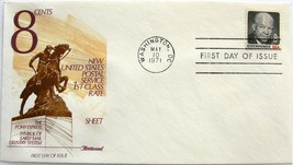 May 10, 1971 First Day of Issue, Fleetwood Cover, 8c Eisenhower #17 - $2.74