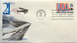 May 21, 1971 First Day of Issue, Fleetwood Cover, 21c United States Air ... - $2.23
