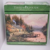 Thomas Kinkade The End Of A Perfect Day 1000 Piece Jigsaw Puzzle New Cru... - $14.01