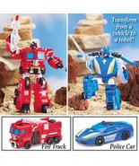 Boys Autobot Transformer Rescue Vehicle Boy's Toy, Fire Truck  - $23.66