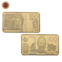 WR Australia 100 Dollar 24k Gold Art Bar Banknote Collector Bullion Meta... - $4.49