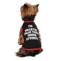 Zack & Zoey UM3130 10 17 Honor Student Tank for Dogs, X-Small, Black - $24.95