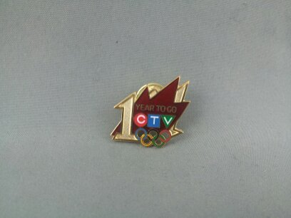 Primary image for Vancouver 2010 Pin - 1 Year Countdown -CTV (Canadian Television) Broadcaster Pin