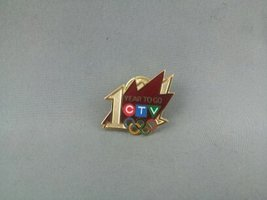 Vancouver 2010 Pin - 1 Year Countdown -CTV (Canadian Television) Broadcaster Pin - $19.00