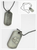 Call of Duty Necklace COD10 Ghosts Game Dog Tag Chain Ball Snap Chain Ne... - $9.89