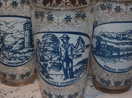 3 Vintage Currier & Ives Glass Tumblers Drinkin... - $4.89