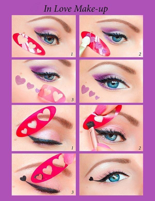Schnelle Eyeliner/Augenlinie Stickies/Schablonen/Stencils Augenschminken NEU AT1