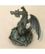 Pewter Dragon Statue Figure Vintage Dungeon Dragons Crystallite 3 Crysta... - $37.99