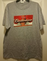 New Anheuser-Busch Budweiser King of Beers Label Adult Large T-shirt Dri... - $8.91