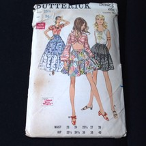 1969 Tiered Maxi Skirt Pattern Butterick #5523 Uncut Gypsy Pioneer W 25-1/2 - $14.36