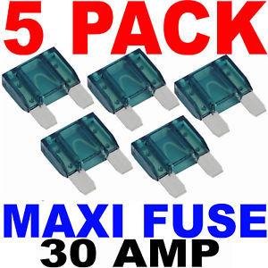 Maxi Fuses 5pk Blade Style Fuse 30a 30 Amp Circuit