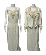 Vintage Karen Lawrence by Matthew Ivory Gold 2 pc Formal Dress blazer si... - $26.50