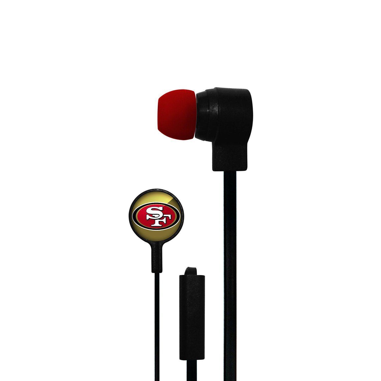 SAN FRANCISCO 49ERS MIZCO STEREO EAR BUDS iPod iPhone iPad Android HANDSFREE MIC
