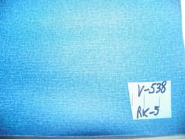 Medium Blue Print Vinyl Upholstery Fabric 1 Yard  V538 - $29.95