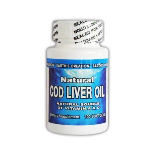 Earth's Creation Natural Cod Liver Oil - Source of Vitamin A
