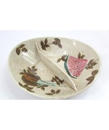 Red Wing Tamico Watermelon Divided Serving Dish/Bowl. - $29.70
