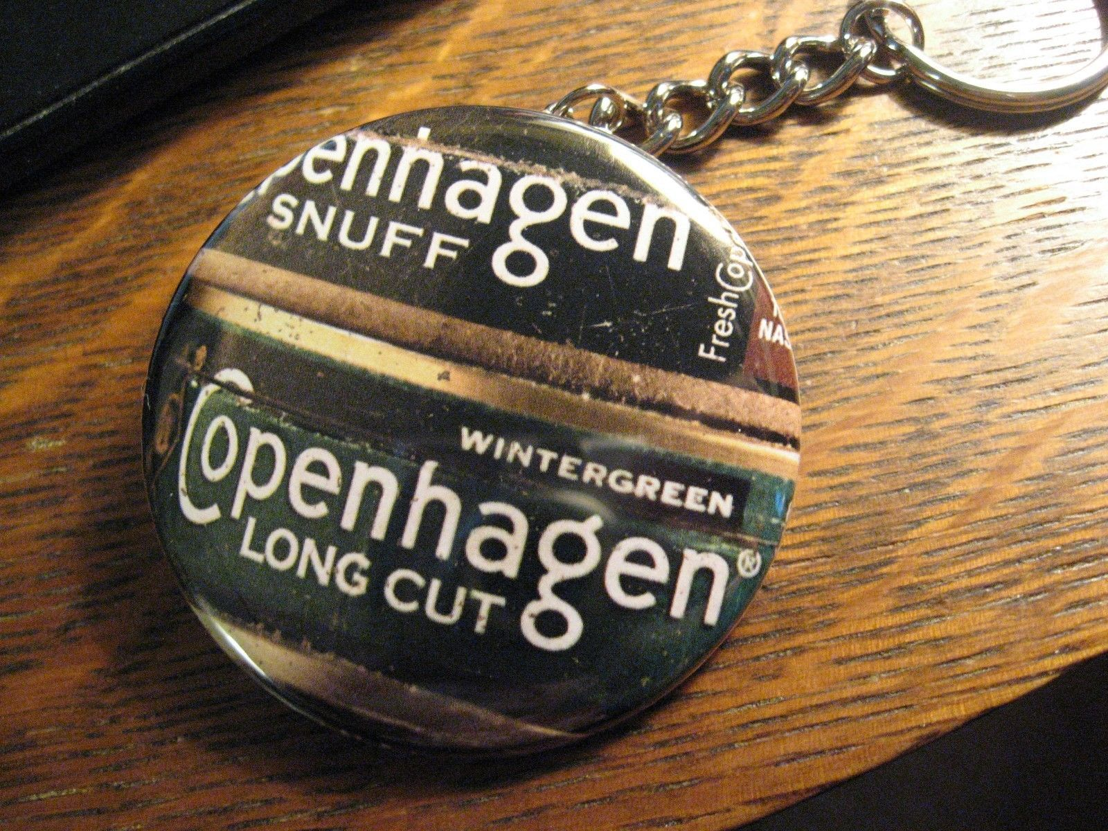 Copenhagen Keychain - RePurposed Magazine Snuff Ad Backpack Purse Clip Ornament