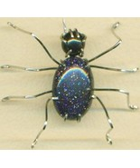 Blue Goldstone Spider Stainless Steel Wire Wrap... - $31.99