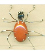 Red Jasper Spider Stainless Steel Wire Wrap Bro... - $31.99