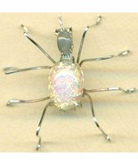 Vintage Glass Spider Stainless Steel Wire Wrap ... - $31.99