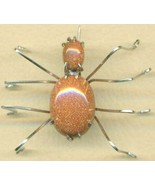 Brown Goldstone Spider Stainless Steel Wire Wra... - $31.99