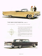 Vintage 1958 Magazine Ad Lincoln Continental Convertible 1 of 4  Mark III Models - $5.93