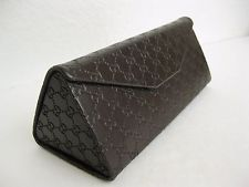 GUCCI Case Sunglass Eyeglass Foldable Embossed Leather New 100% Authentic