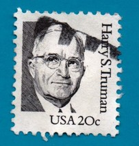 Scott  #1862  Used Collectible US Postage Stamp - 20c Harry S. Truman 1980 - $1.99