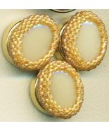 Faux Ivory Beaded Button Covers 5 - $19.90