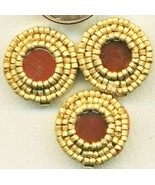 Carnelian Beaded Button Covers 8 - $19.90