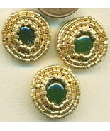 Jade Beaded Button Covers 11 - $19.90