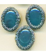 Faux Blue Agate Beaded Button Covers 16 - $19.90