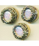 Vintage Opal Glass Beaded Button Covers 17 - $19.90