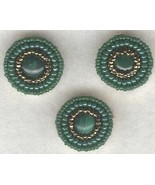 Malachite Beaded Button Covers 2 - $19.90