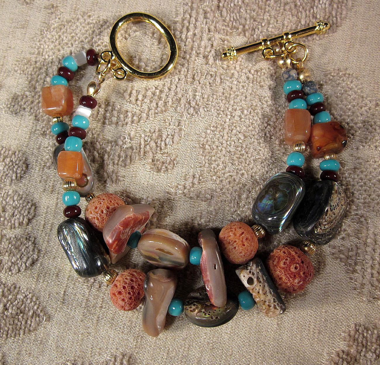 An original wearble art bracelet by Michael tarillion